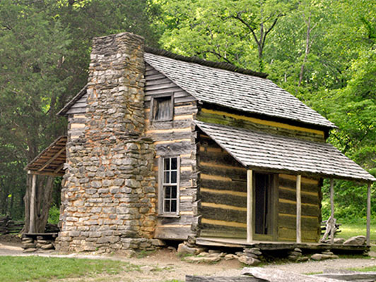 Historic Cades Cove log home