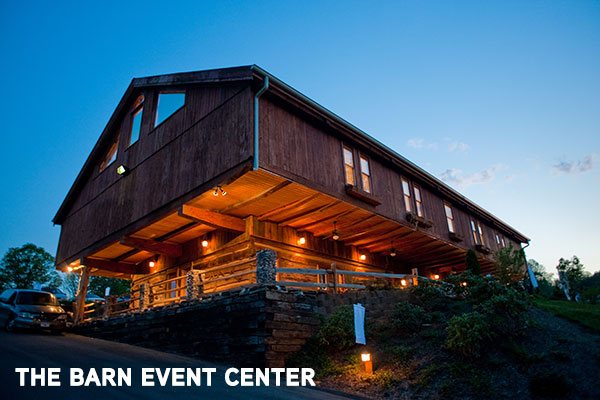 Exterior photo of the barn Event center